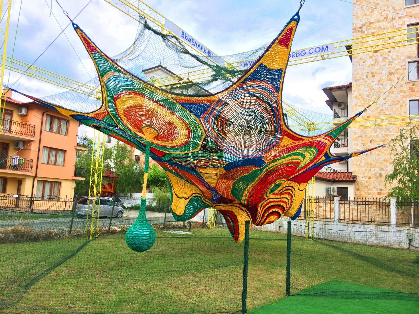hand crochet playground